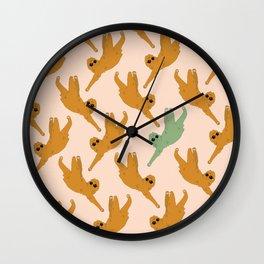 I love Sloths Wall Clock