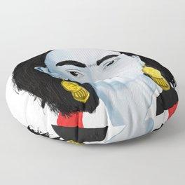 Frida White Background Floor Pillow