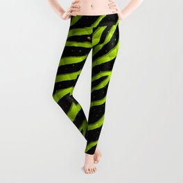Ripped SpaceTime Stripes - Lime Yellow Leggings