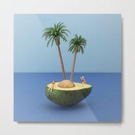 Avocado island Metal Print