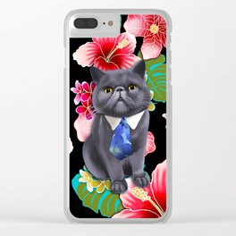 Aloha Popoki Clear iPhone Case