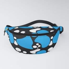 Abstract black blue pattern Fanny Pack