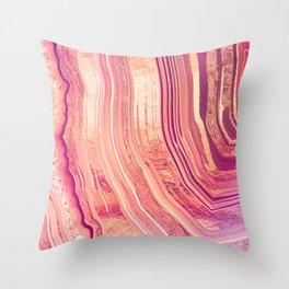 Tribeca Rose Geode Throw Pillow