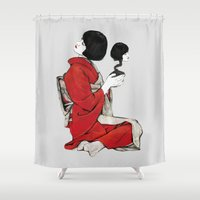 japan Shower Curtains featuring JAPAN by Ivano Nazeri