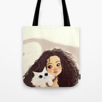 sister Tote Bags featuring Sister by cennet kapkac