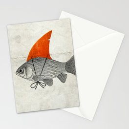 Goldfish with a Shark Fin Stationery Cards