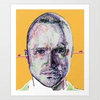 jesse pinkman Art Prints featuring Jesse Pinkman by Nadyia Duff