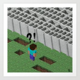 Mine craft reality Art Print