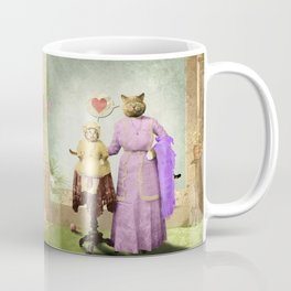Momma Kitty Loves Her Kitten Coffee Mug