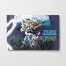 Zeus - Chibi Mythology Metal Print