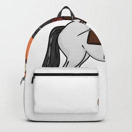 Horse horses gift pony mare stallion riding Backpack