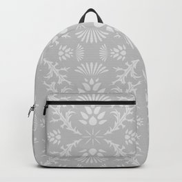 Thistles on Grey Backpack