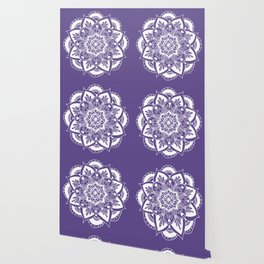 Ultraviolet Flower Mandala Wallpaper