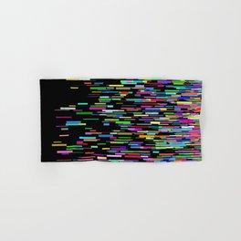Rainbow bars zooming across black space horizon Hand & Bath Towel