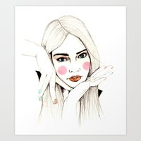 Beauty Portrait 3 Art Print