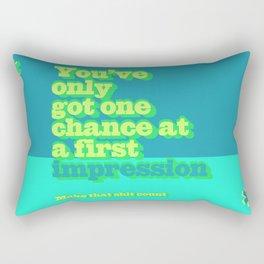 First Impression Rectangular Pillow