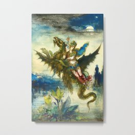 """Gustave Moreau """"Dream of the Orient or The Peri"""" Metal Print"""
