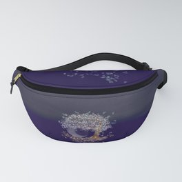 Tree of life in the night Fanny Pack