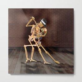 Dancing Skeletons Metal Print
