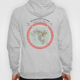 Flat Earth Society Wall Map Hoody