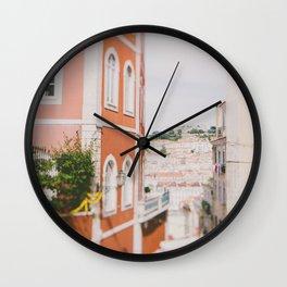 Summer in Lisbon Wall Clock