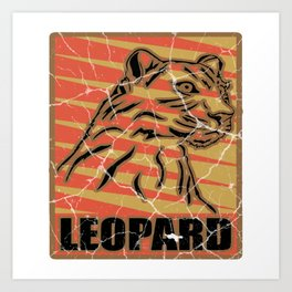 Leopard predator cat gift snow leopard Art Print