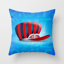 Great Dick, The Wackiest Racer of all... Throw Pillow