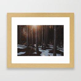 Hope; In a Frozen Wood. Framed Art Print
