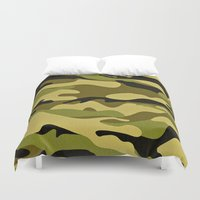 army Duvet Covers featuring ARMY by Sophie