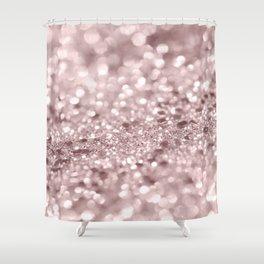 Sparkling Rose Gold Blush Glitter #1 #shiny #decor #art #society6 Shower Curtain