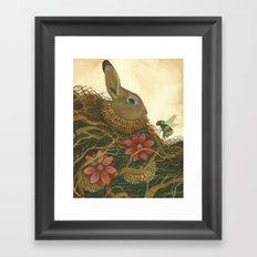 The Rabbit and the Bee Framed Art Print