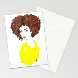 Yellow shirt Stationery Cards