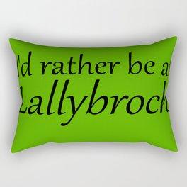 I'd Rather Be At Lallybroch Rectangular Pillow