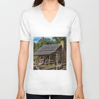 tennessee V-neck T-shirts featuring Tennessee Mountain Home by Exquisite Photography by Lanis Rossi