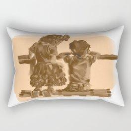 Childhood Friendships Rectangular Pillow