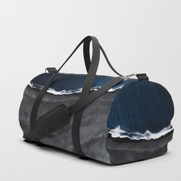 Grey Beach Blue Sea Duffle Bag