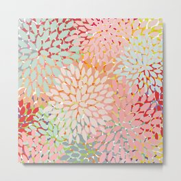 Floral Pattern, Colorful, Summer, Spring, Zest Metal Print