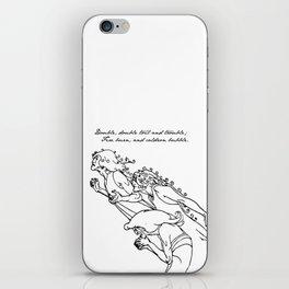 Shakespeare - MacBeth - Weird Sisters iPhone Skin