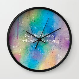 Excellence withers without an adversary. Seneca Wall Clock