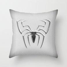 Spider Steel Chrome Throw Pillow
