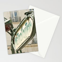 Metro station entrance Paris, France Stationery Cards