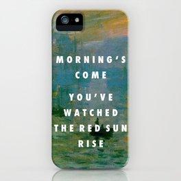 Obvious Impression iPhone Case