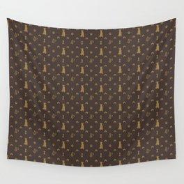 Louis Pitbull Luxury Dog Bling Pattern Wall Tapestry