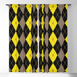 Rhombus Color Combination 6 Blackout Curtain
