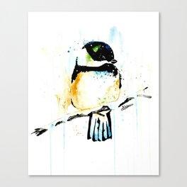 Chickadee - Winter friend Canvas Print