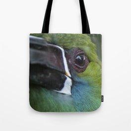 tucan esmeralda Tote Bag