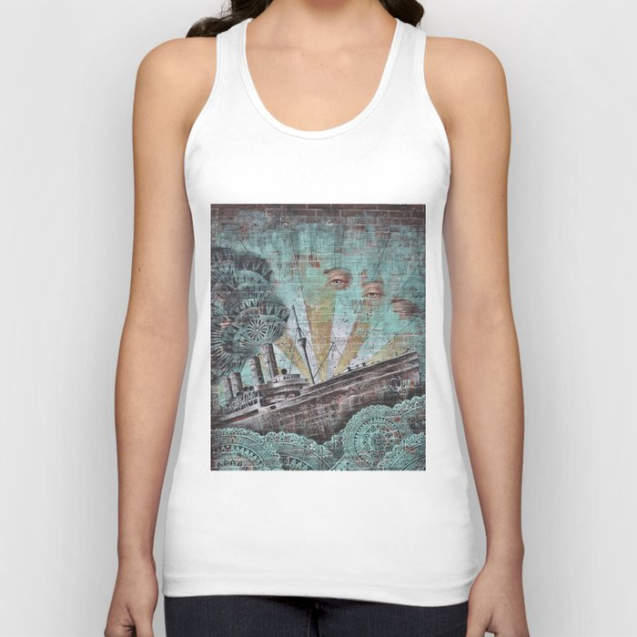 the boat wall Unisex Tank Top
