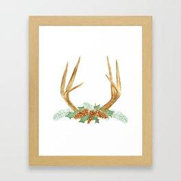 Christmas Antlers Framed Art Print