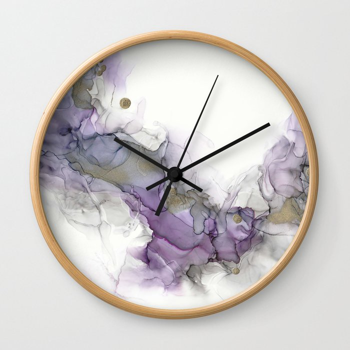 Study in Purple Wall Clock