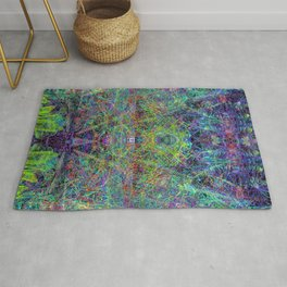 Con-Tici Cosmogenesis (abstract, psychedelic, visionary) Rug